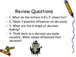 review questions