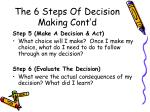 the 6 steps of decision making cont d1