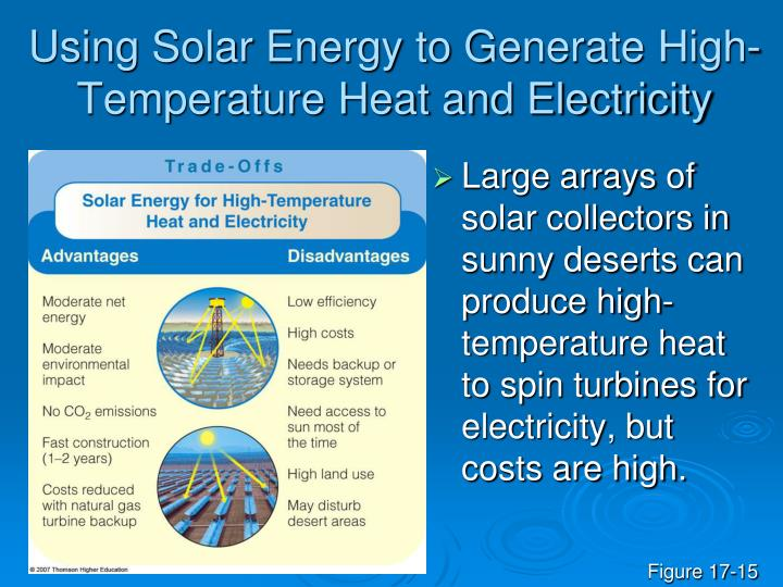 Using Solar Energy to Generate High-Temperature Heat and Electricity
