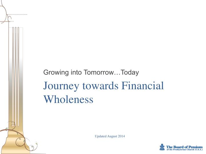 journey towards financial wholeness n.