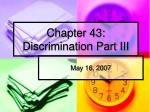 chapter 43 discrimination part iii