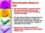 discrimination based on age