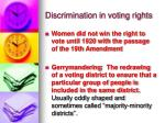discrimination in voting rights1