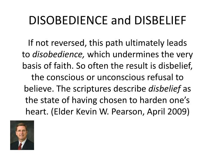 DISOBEDIENCE and