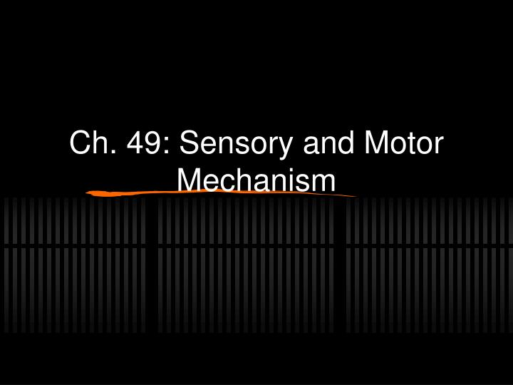 ch 49 sensory and motor mechanism n.