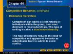 competitive behavior continued2