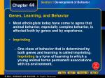 genes learning and behavior