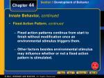 innate behavior continued