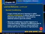 learned behavior continued1