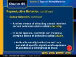 reproductive behavior continued1