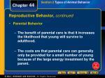 reproductive behavior continued3