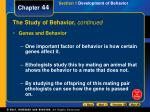 the study of behavior continued1