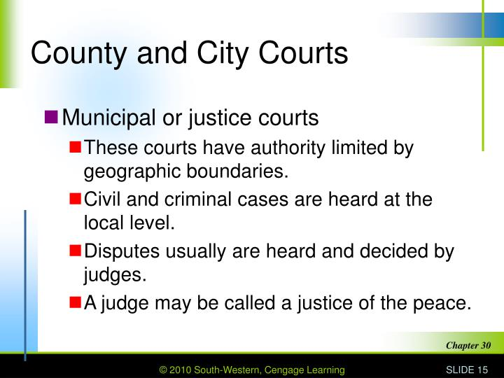 County and City Courts