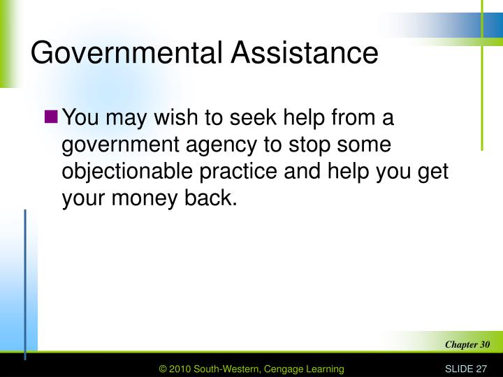 Governmental Assistance