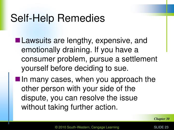 Self-Help Remedies