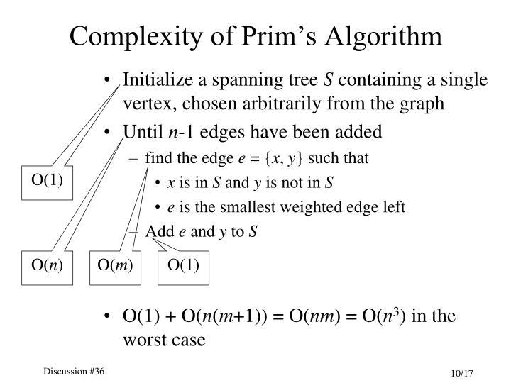 Complexity of Prim's Algorithm