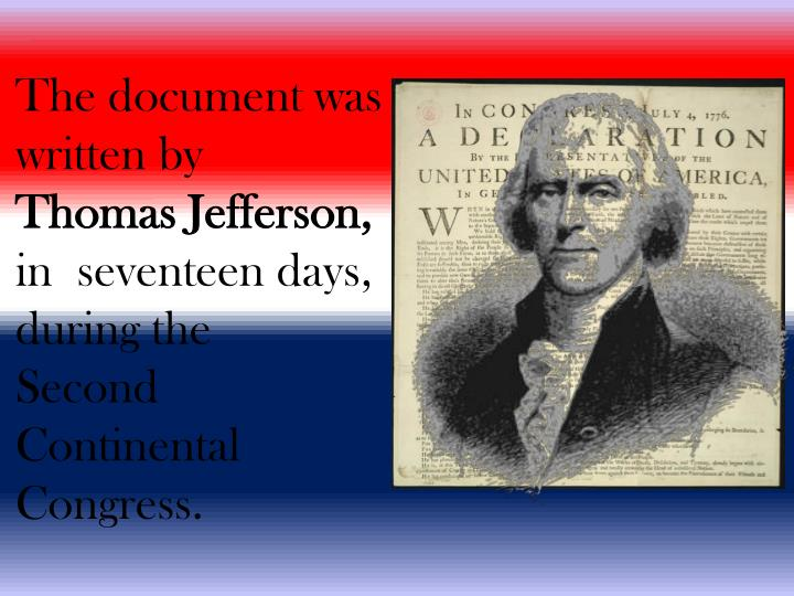 The document was