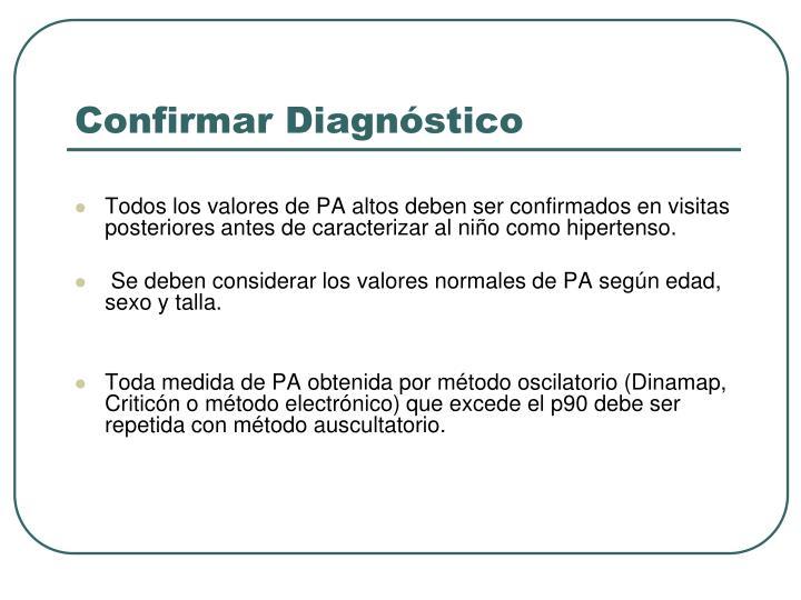 Confirmar Diagnóstico