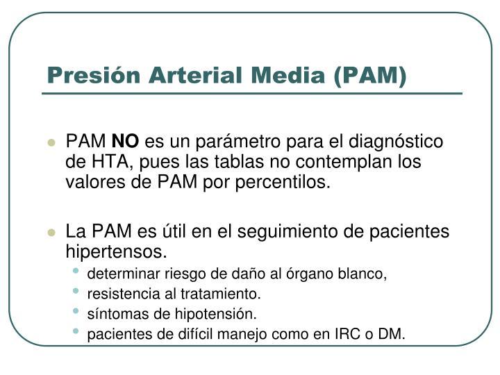 Presión Arterial Media (PAM)