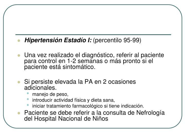 Hipertensión Estadío I: