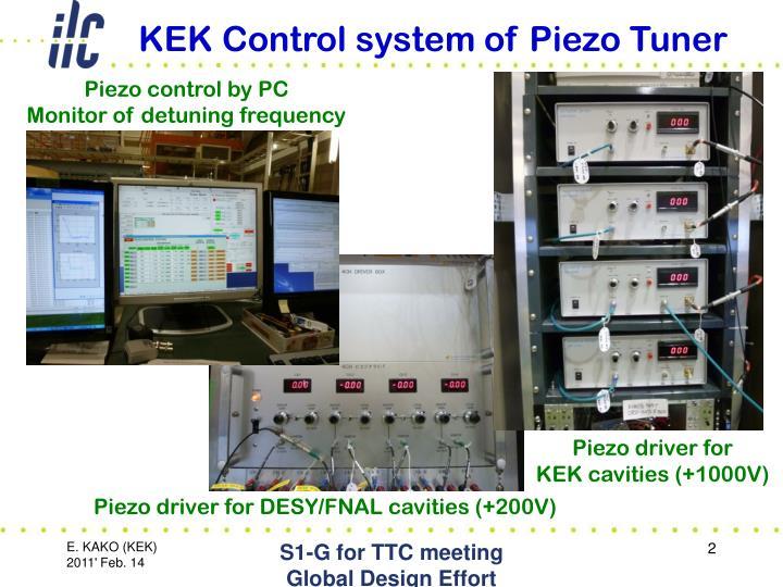 KEK Control system of Piezo Tuner