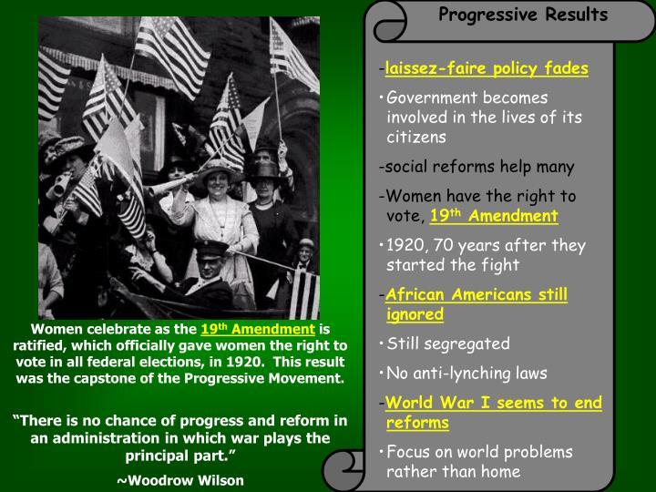 Progressive Results