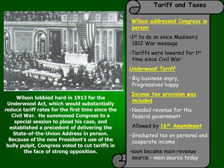 Tariff and Taxes