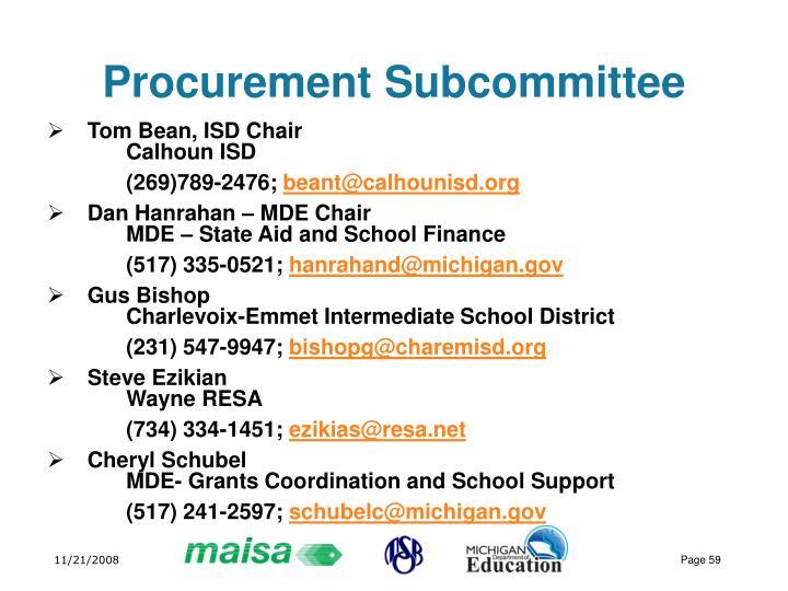 Procurement Subcommittee
