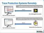 trace production systems remotely