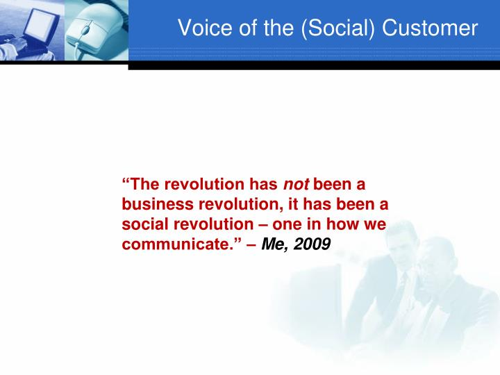 Voice of the social customer1