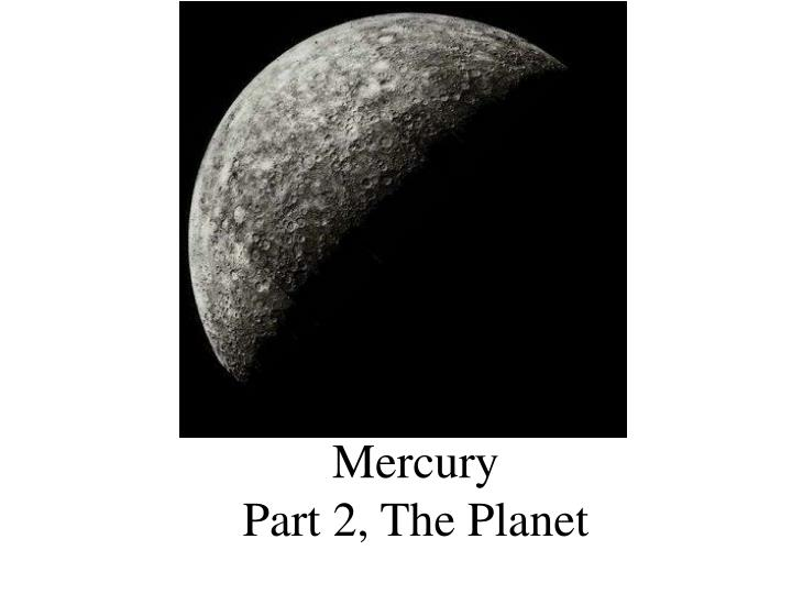 a study of the planet mercury