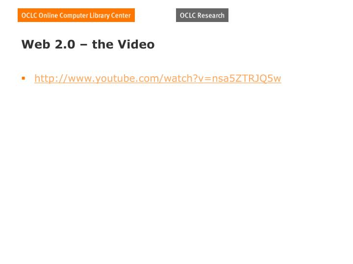 Web 2 0 the video