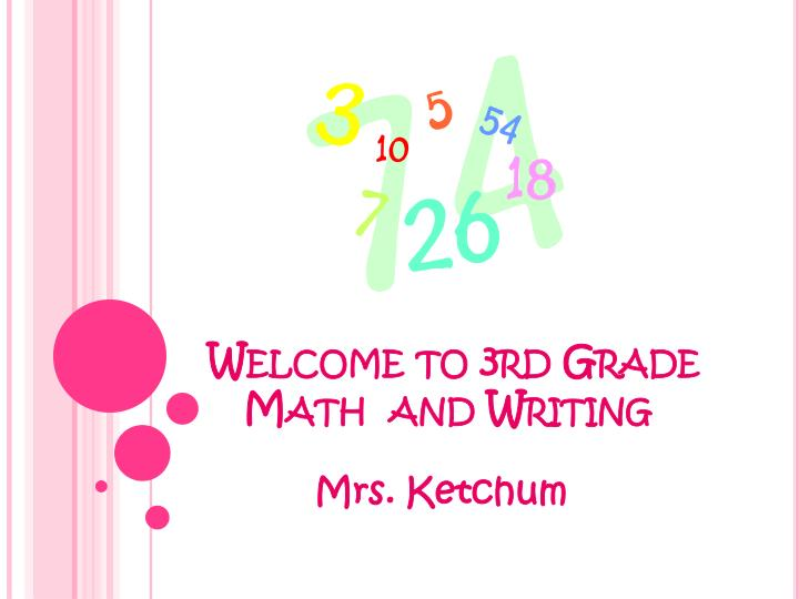 welcome to 3rd grade math and writing n.