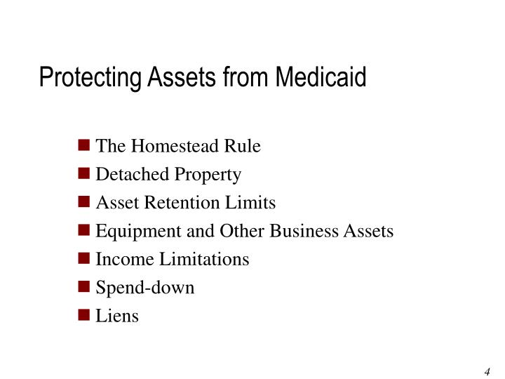 Protecting Assets from Medicaid