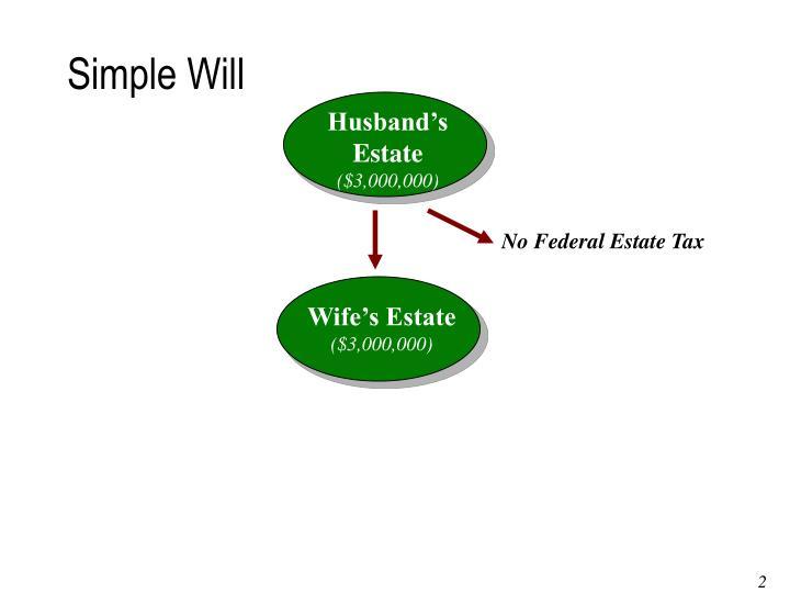 Husband's Estate