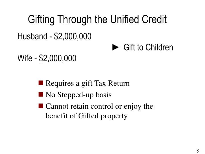 Gifting Through the Unified Credit