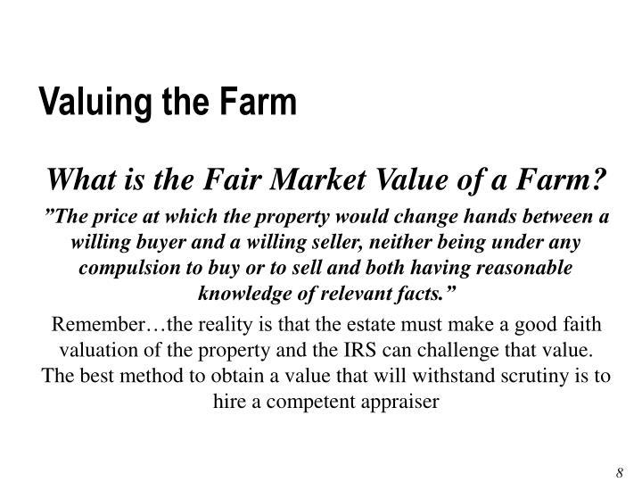 Valuing the Farm