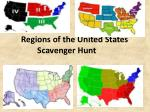 regions of the united states scavenger hunt