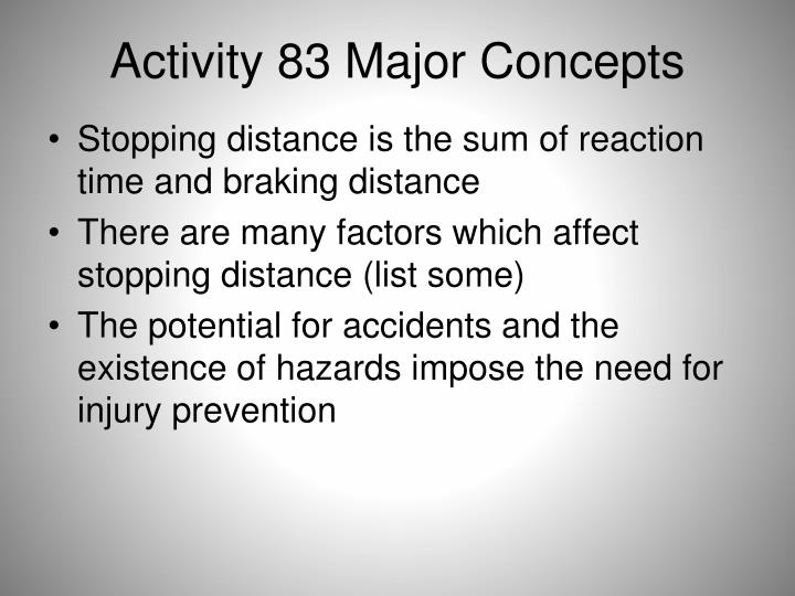 Activity 83 Major Concepts