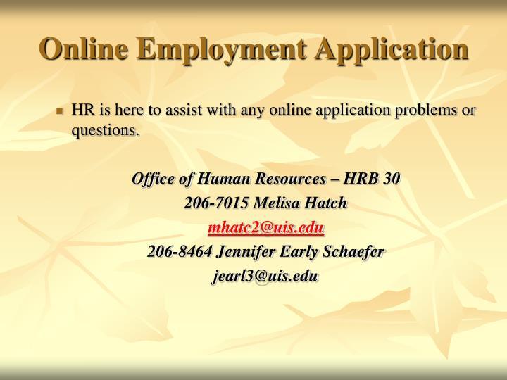 Online Employment Application