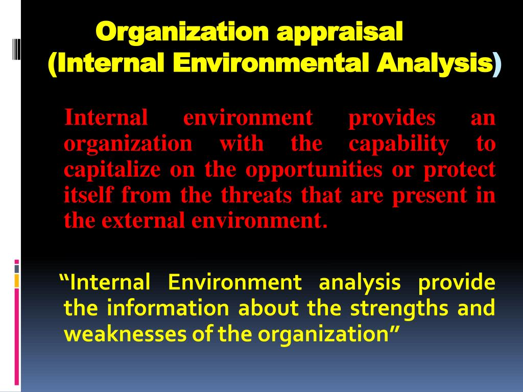 the external and internal environment