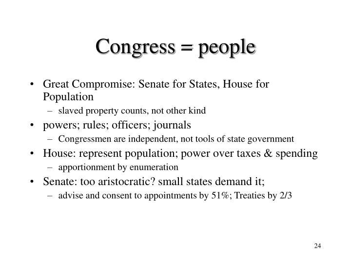 Congress = people