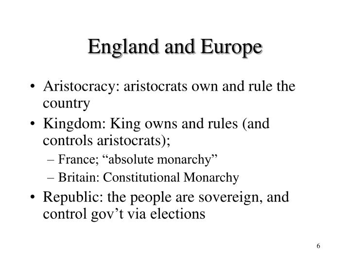 England and Europe