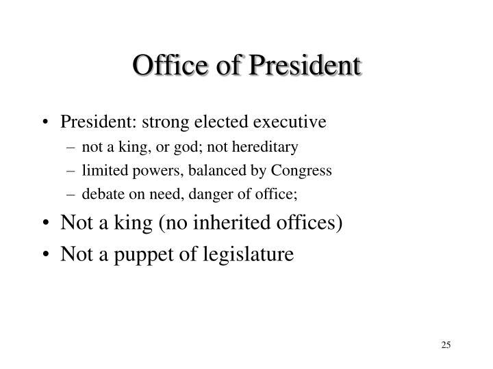 Office of President
