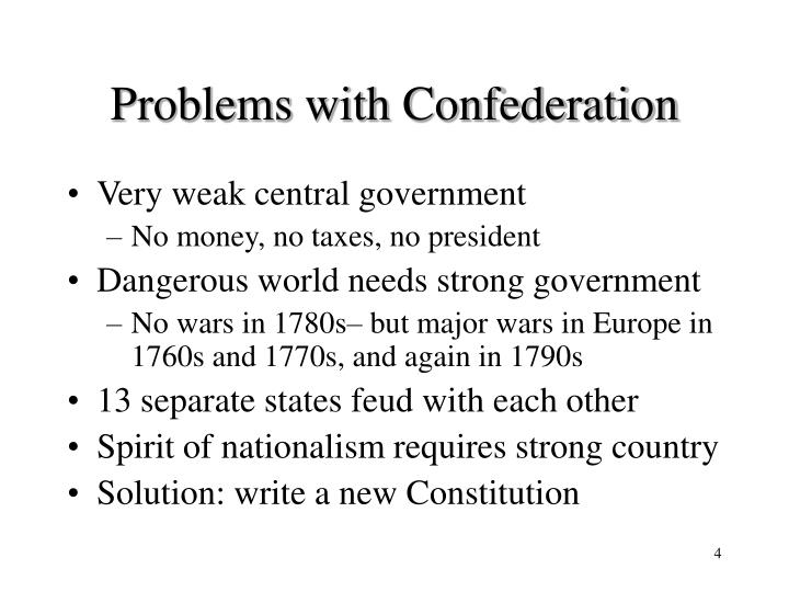 Problems with Confederation