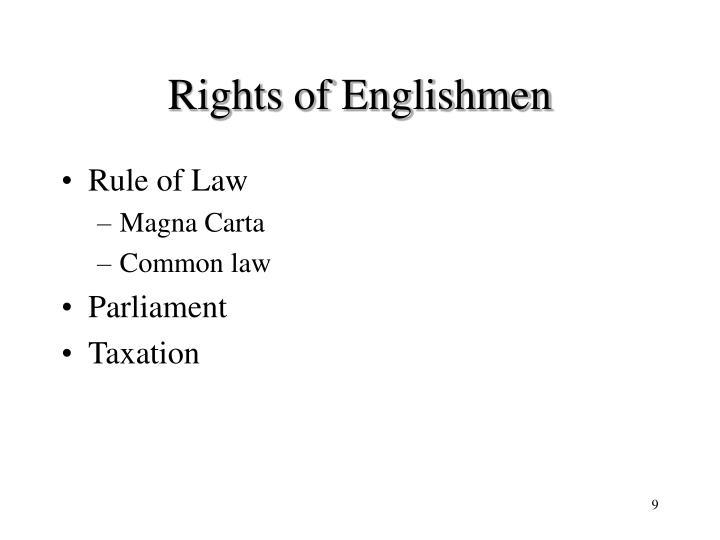 Rights of Englishmen