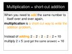 multiplication short cut addition