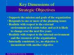 key dimensions of strategic objectives