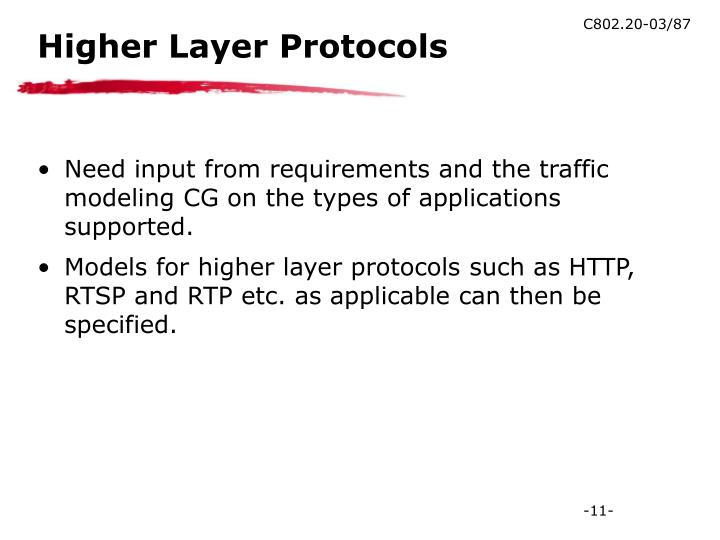 Higher Layer Protocols