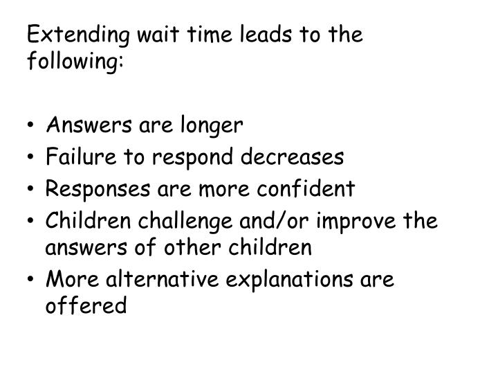 Extending wait time leads to the following:
